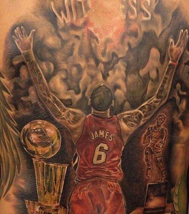 Lebron james wiki salary contract tattoos net worth for Chest mural tattoos