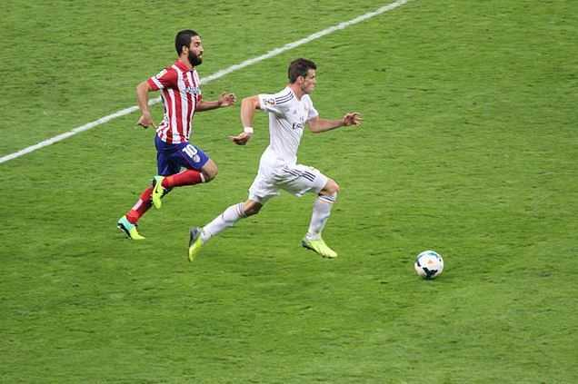 Gareth Bale, running speed