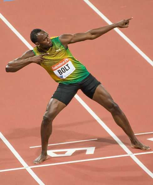 Usain Bolt, athlete, popular, best