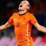 Arjen Robben rests as Netherlands land in Portugal