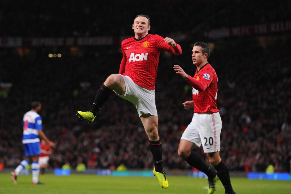 rooney, wayne rooney, rooney's goal celebration, manchester united