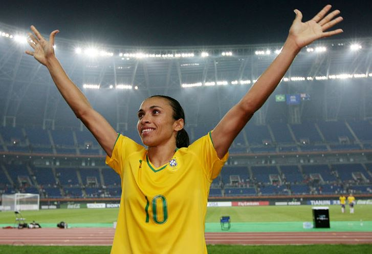 Top 10 Famous Female Soccer Players of All Time, marta, brazilian female soccer player, best woman footballer