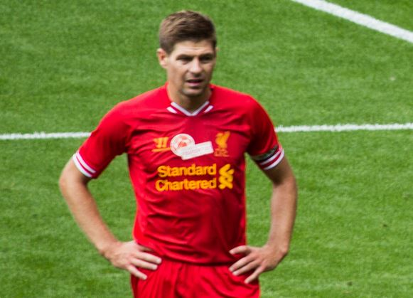 Top 10 Best Active Free Kick Takers in Soccer, steven gerrard free kick, liverpool star