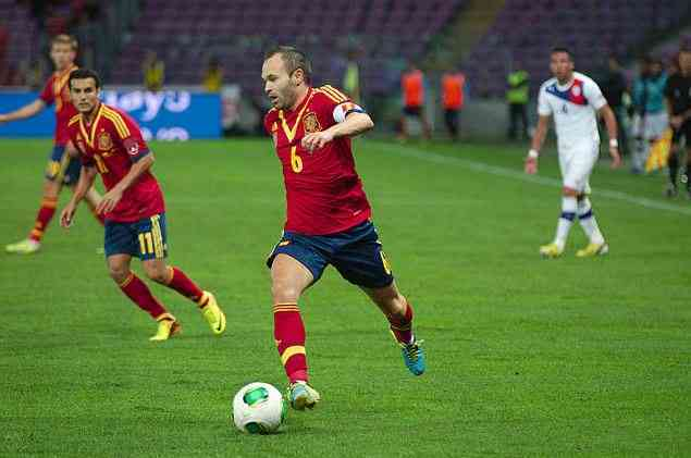 Andres Iniesta, midfield, best football player, best soccer players in the world