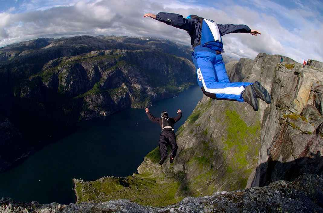 Top 10 Most Dangerous Sports in the World | Extreme Sports List, BASE jumping
