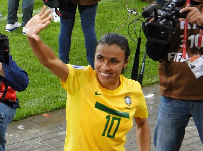 Top 10 Players at the 2015 Women's World Cup, Marta, Brazil