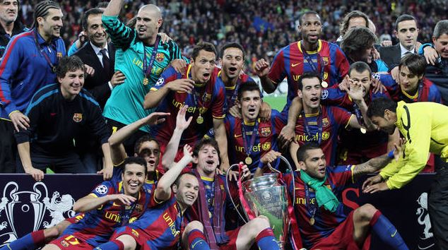 Barcelona's Previous Four Champions League Titles, Wembley (992)