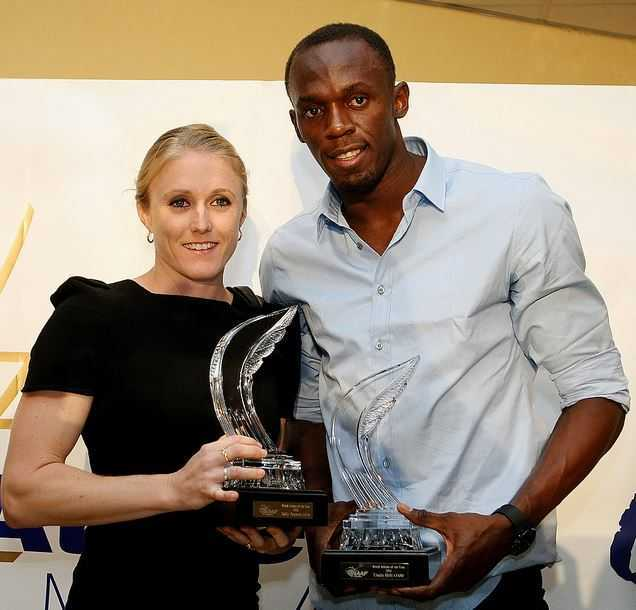 Sally Pearson and Usain Bolt,